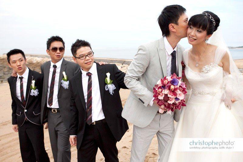 Wedding party on the beach, Bali Jakarta
