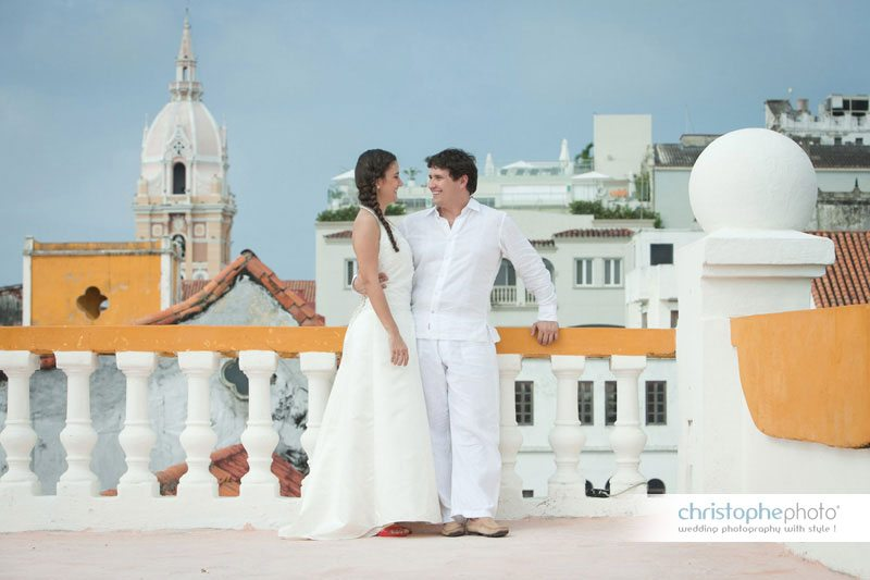 the old part of town in Cartagena for Pre-Wedding Photography