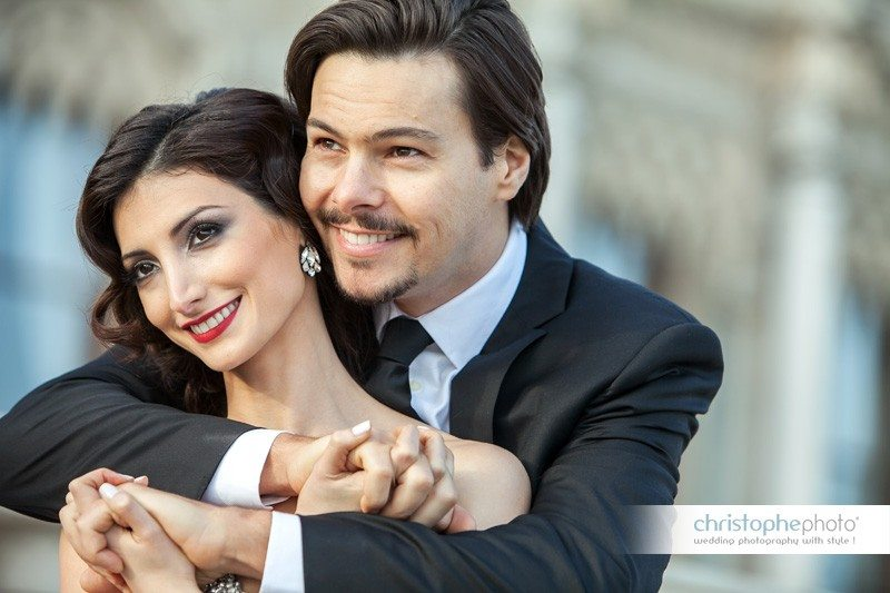 Glamorous couple during their pre wedding photo istanbul by Christophe Viseux