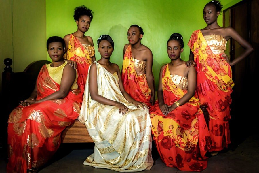 Rwandese Bride and Bridesmaids in Kigali